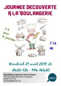 Journée découverte à la Boulangerie pour les enfants – Vendredi 21 avril 2017