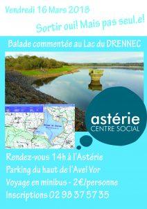 Sortie Loisirs et Découvertes/ vendredi 16 Mars Balade commentée au lac du DRENNEC