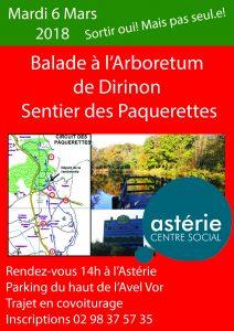 Commission Loisirs et Découvertes/ Mardi 6 Mars balade au sentier des pâquerettes, arboretum de DIRINON.