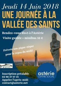 Sortie Loisirs et Découvertes Une journée à la vallée des Saints jeudi 14 juin 2018