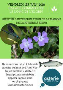 Sorties Loisirs et Découvertes sentier d'interprétation Maison de la Rivière Sizun vendredi 1er juin 2018