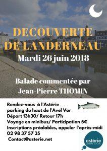 Sortie loisirs et découvertes mardi 26 juin Balade à Landerneau