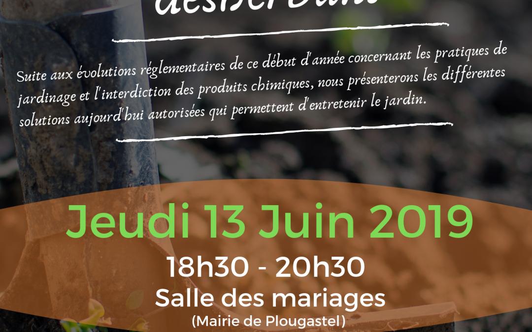 "Conférence ""Désherber sans désherbant"" – Jeudi 13 Juin 2019"