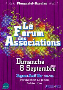 Forum des associations – Dimanche 8 Septembre 2019 –