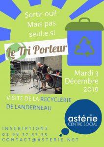 Visite de la recyclerie de Landerneau «Le Tri Porteur»