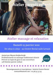 Atelier parents/enfants massage et relaxation