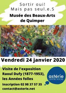 Sortir oui! Mais pas seul.e.s Musée des Beaux-Arts de Quimper vendredi 24 janvier 2020