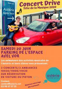 CONCERT DRIVE Fête de la Musique 2020 samedi 20 juin 2020