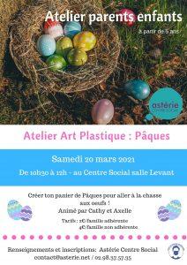 Atelier parents/enfants art plastique pâques