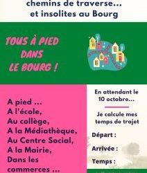"""""""Tous à pied dans le Bourg !"""""""