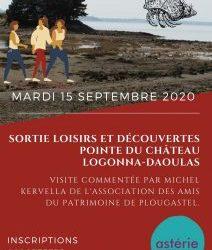 Sortie Loisirs et Découvertes Pointe du Château Logonna-Daoulas mardi 15 septembre 2020