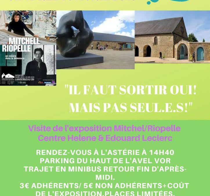 Sortie Loisirs et Découvertes à Landerneau visite de l'exposition, Fonds Hélène et Edouard Leclerc.