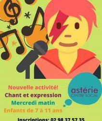 """Nouvelle Activité """"chant et expression"""" pour les enfants de 7 à 11ans"""