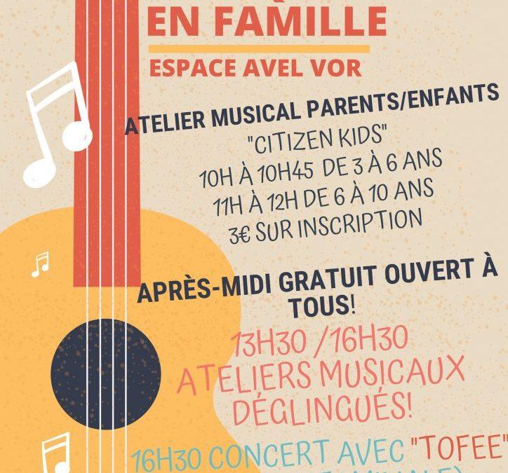 Musique en famille Espace Avel Vor Samedi 13 Avril